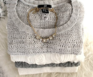 fashion, knitwear, and love image