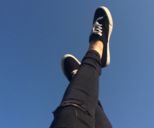 black jeans, blue, and blue and black image
