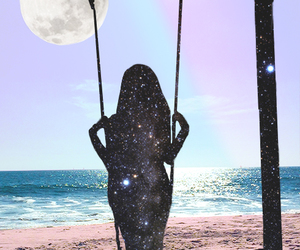 beach and galaxy image