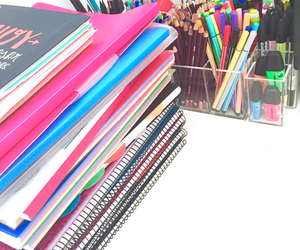 school, study, and notebooks image