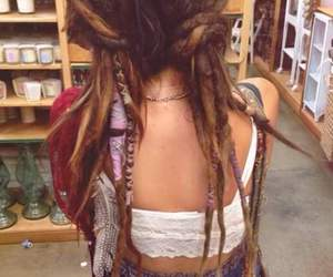 dreadlocks, girl, and hair image