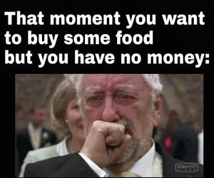 crying, food, and funny image