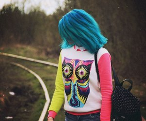 alt girl, dyed hair, and grunge image