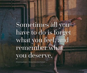 feel, forget, and quote image