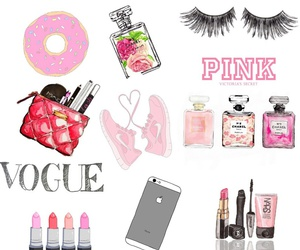 chanel, Collage, and girly image