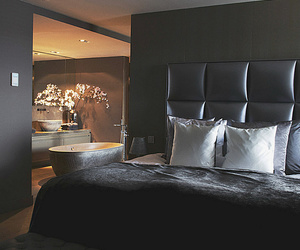 beautiful, bedroom, and black image