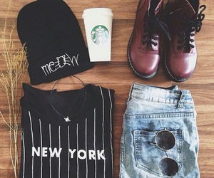 outfit, style, and new york image