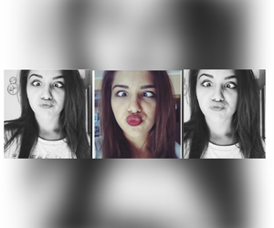 duck, face, and girl image