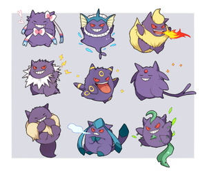 pokemon, gengar, and eeveelution image