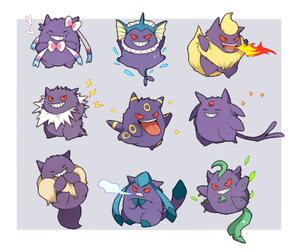 pokemon, gengar, and eeveelution image