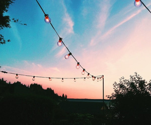 lights, nature, and sky image