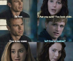 divergent, four, and hunger games image
