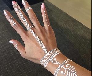 beautiful, diamonds, and henna image