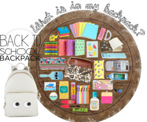 bag, college, and Polyvore image