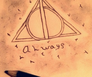 always, drawings, and harry potter image