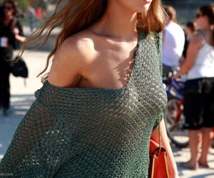 boobs, knit, and fashion image