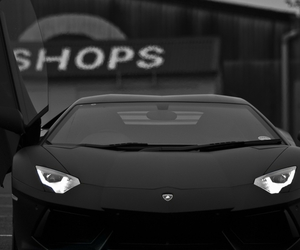 black, dark, and Lamborghini image