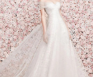 wedding dress, bridal, and dress image