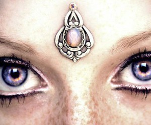 eyes, jewelry, and purple image