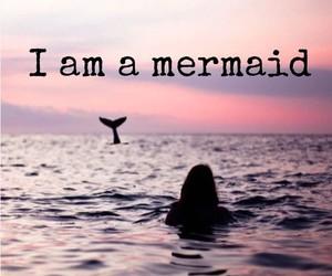 mermaid, sea, and swim image