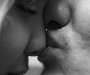 b&w, kiss, and naughty image