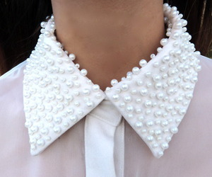 fashion, pearls, and collar image