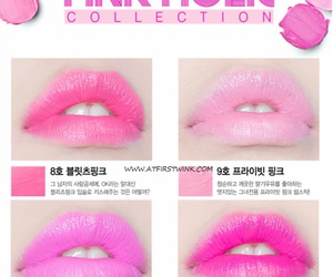 cosmetics, korean, and pink image