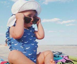 adorable, beach, and baby image