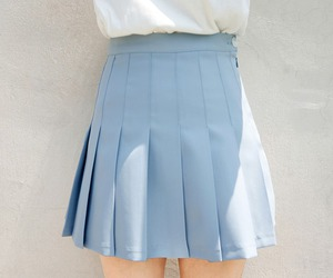 blue, pale, and skirt image