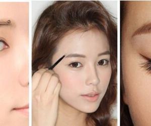 eyebrow, makeup, and ulzzang image