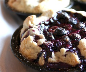 blueberry, cherry, and dessert image