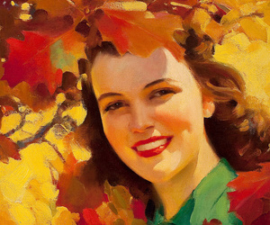 autumn, fall, and gold image