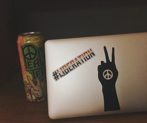 awesome, macbook air, and peace image