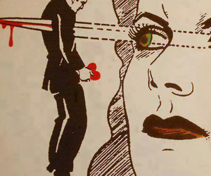 woman, eyes, and heart image