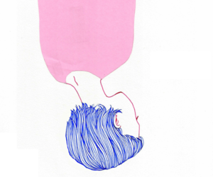 blue, girl, and pink image