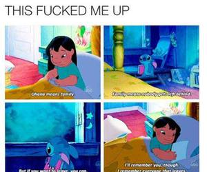 sad, lilo and stitch, and chilhood image