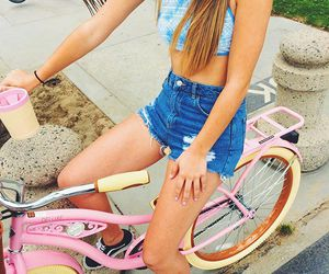 summer, tumblr, and bike image