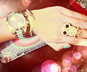 fashon, anillo, and reloj image