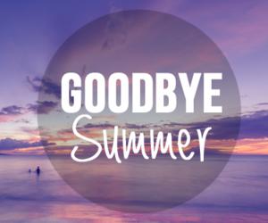 summer, goodbye, and September image