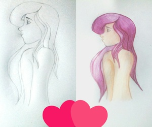 art, drawing, and colours image