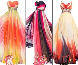 beauty, prom dress, and women fashion image