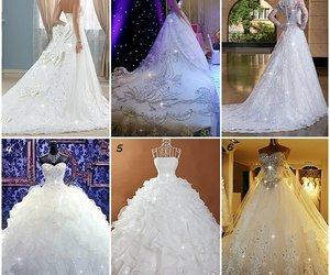 beauty, wedding dress, and women fashion image
