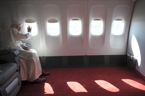 pope, Catholic, and plane image