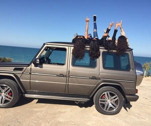 car, friends, and summer image