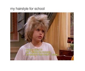 hair, school, and style image