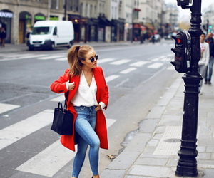 fashion, red, and jeans image