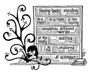 book, reading, and reader image