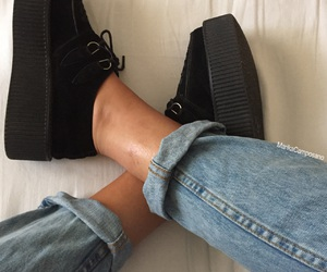 boyfriend, girl, and jeans image