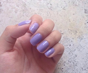nail polish, gel nail polish, and lavander image