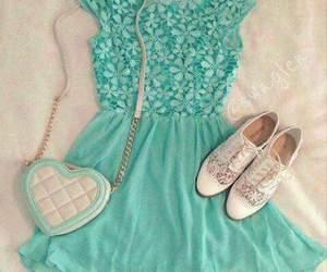dress, shoes, and bag image